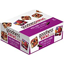 goodnessKNOWS Mixed Berries, Almond & Dark Chocolate Gluten Free Snack Square Bars 12-Count Box