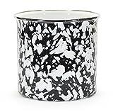 Kitchen Utensil Holder Crock Kitchen Storage Organization Containers Black Enamelware 6'' Set of 2