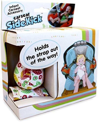 Cars Seat Seatbelt Holder - Carseat Sidekick - Includes 2 Attachment Clips, 2 Retractable Bells, and 2 Magnetic Straps - Designed for Infants (Pink)
