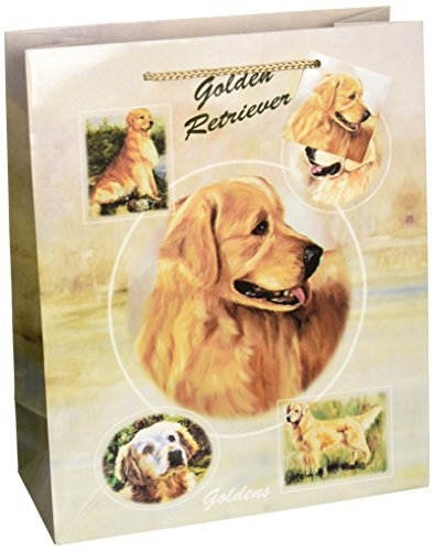 GOLDEN RETRIEVER GIFT BAGS, SET OF 5 Large Gift Bags by Ruth Maystead ()