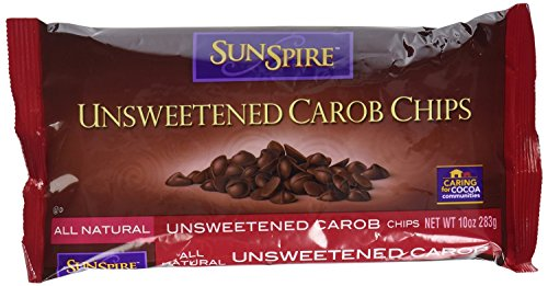 Sunspire Unsweetened Carob Baking Chips, 10 Ounce - 12 per ()