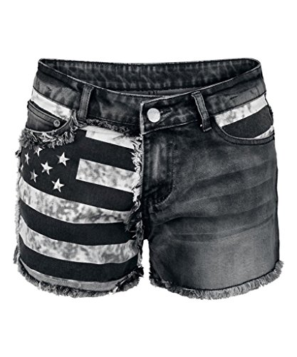 Welldressing Junior's Hot Pants American Flag Denim - Women Hot American