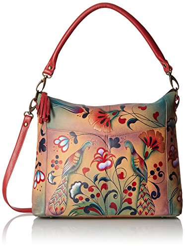 Anuschka Handpainted Leather Convertible Shoulder Bag, Turkish Pottery by Anna by Anuschka