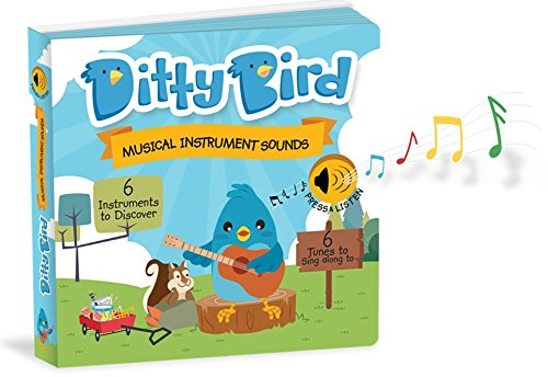 OUR BEST INTERACTIVE INSTRUMENTAL CHILDREN'S SONGS BOOK for BABIES. Educational Musical Instruments and Singing Toys for Baby, Toddler, 1 Year Old with Electronic Button. Baby Shower Gift Boy Girl