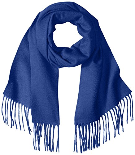 Sofia Cashmere Women's Woven Scarf with Fringe, Mahler Navy, One Size by Sofia Cashmere