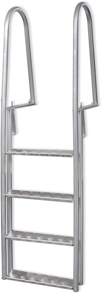 vidaXL Escalera Seguridad Piscina Elevada 4 Peldaño 170 cm Escalerilla Escalón: Amazon.es: Jardín