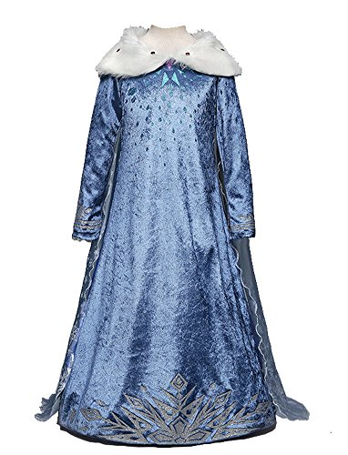 About Time Co Deluxe Snow Princess Adventure Costume Fancy Dress ((120) 3-4 Years)