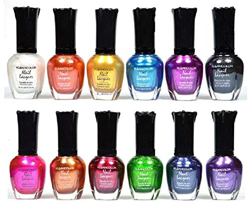 (Kleancolor Nail Polish - Awesome Metallic Full Size Lacquer (Set of 12 Pieces))