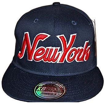 KB Ethos New York gorras con visera plana, Retro Vintage Gorra Visera Plate, Fit NY hip hop bling Unisex Gorra Béisbol Azul New York Blanc/Royal: Amazon.es: ...