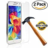 SOOYO 9H Round Edge Tempered Glass Screen Protector for Samsung Galaxy S5 –