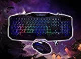 Rii RM400 LED Gaming Keyboard & Mouse Combo Bundle (7 Color Backlit) (rm400)