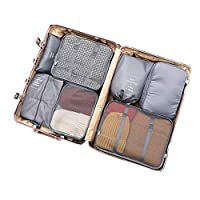 Hasde Packing Cubes Set 7-Pcs Travel Luggage Organizers Travel Accessories