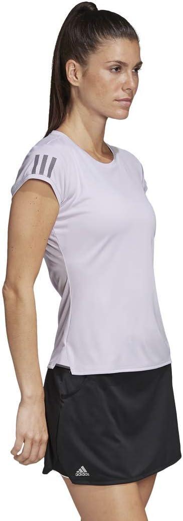 adidas - Club 3 STR Tee, Maglietta Donna Colore Viola/Grigio.