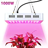 1000w LED Grow Light,Super Bright Full Spectrum Double Chips Growing Bulbs with Protective Sunglasses for Greenhouse Hydroponic Aquatic Indoor Plants Seeding/Growing/Flowering
