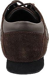 Bundle Lightweight Very Fine Mens Ballroom Salsa Sneaker Dance Shoe Sero106BBX Leather + Shoe Brush + Pouch Coffee Leather & Brown Suede 12 M US