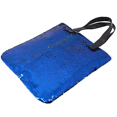 Shopping Bag Blue Multifunctional Shoulder Boutique Totes Light Sequined Shiny Royalblue Women Mermaid Novias Bag Party 1nOzw0qgw