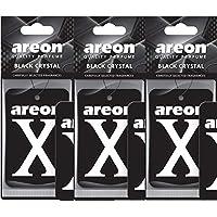 AREON X autogeur zwart kristal auto luchtverfrisser hanger spiegel karton 2D (set x 3)