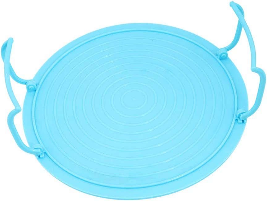 Cngstar Multifunctional Microwave Accessory Functions As Plate Cover Tray with Handles Plate Stacker,Blue