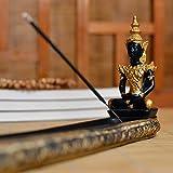 Zen Southeast Asian Style Thai Buddha Statue Incense Board Holder Burner Buddhism Censer Ash Catcher