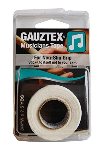 Gauztex® Finger Tape - Musicians - Self-Adhesive Breathable Gauze - Flexible, Sweatproof Non-Slip Grip (1 Roll), ¾