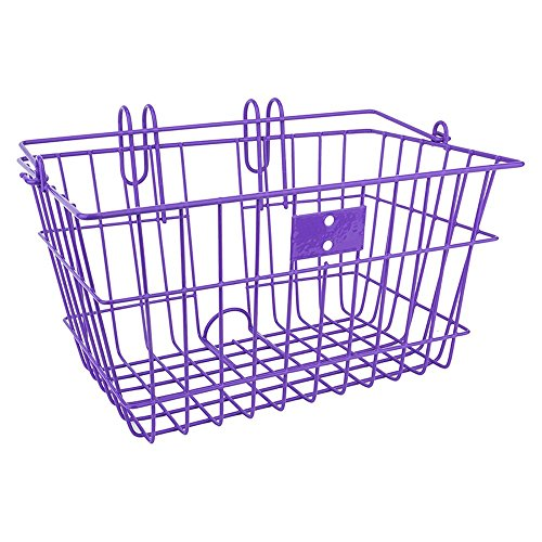 Sunlite Bicycle Lift Off Front Basket PURPLE Steel Commuter Cruiser City Bike by Sunlite