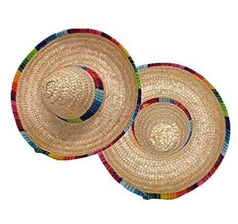 Amazon.com: isusser 2pc colorido sombrero sombrero de paja ...