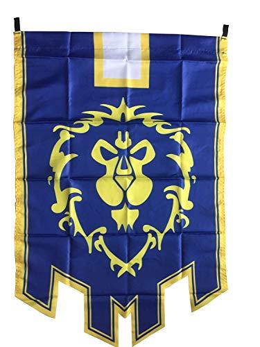 LinkStart Horde Alliance Badge Banner Flag Orc Emblem Poster (Blue)