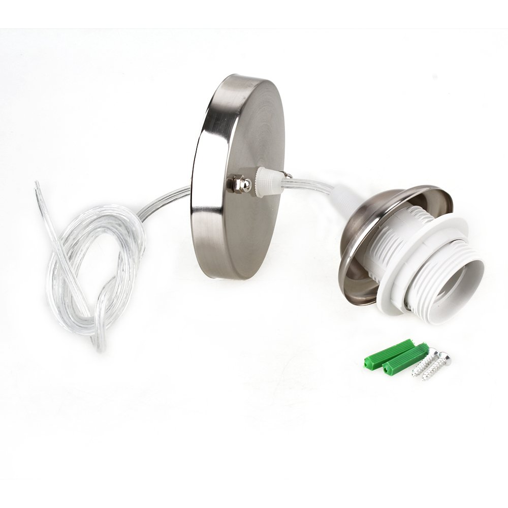 Amazon.com  E27 Pendant Light Kit Base L& Cover Ceiling Rose Light Holder Fitting Lighting  Garden u0026 Outdoor  sc 1 st  Amazon.com & Amazon.com : E27 Pendant Light Kit Base Lamp Cover Ceiling Rose ... azcodes.com