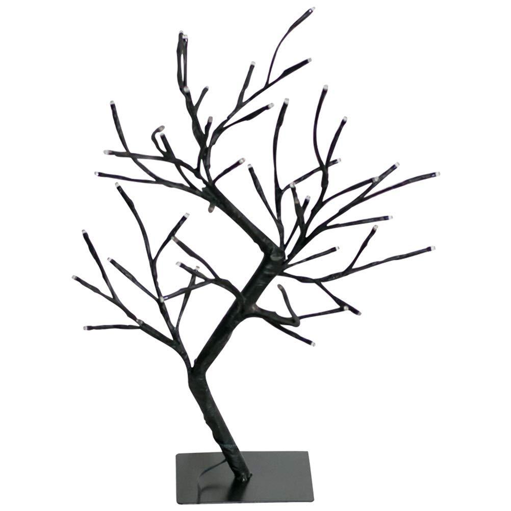OSALADI 48led USB Warm White Branch Shape lamp Decorative Lights Wrapped twig Branches (Black)