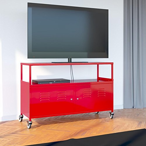Tuscany Metal Lockable Tv Stand Cabinet Media Storage With