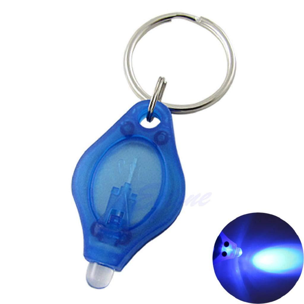 Xuniu Mini LED Llavero Linterna luz Super Brillante LED Linterna Que acampa antorcha Keyring l/ámpara Azul