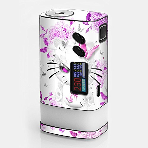 (Skin Decal Vinyl Wrap for Sigelei Fuchai Glo 230W tc Vape stickers skins cover/ Mean Kitty in Pink )