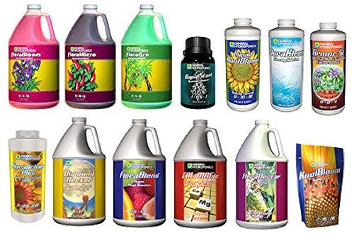 General Hydroponics 3 Part Bundle + Additives Bundle (FloraGro, FloraMicro, FloraBloom, RapidStart, KoolBloom, Floralicious Plus, FloraKleen, Armor Si, Diamond Nectar, CALiMAGic & Flora Nectar)