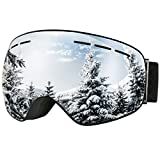 OMorc Ski Goggles, Anti-Fog & UV400 Protection Outdoor Snowboard Goggles with Frameless Detachable Spherical Dual-layer Lens and Upgraded Ventilation System for Skiing, Skating, Motocross, Cycling