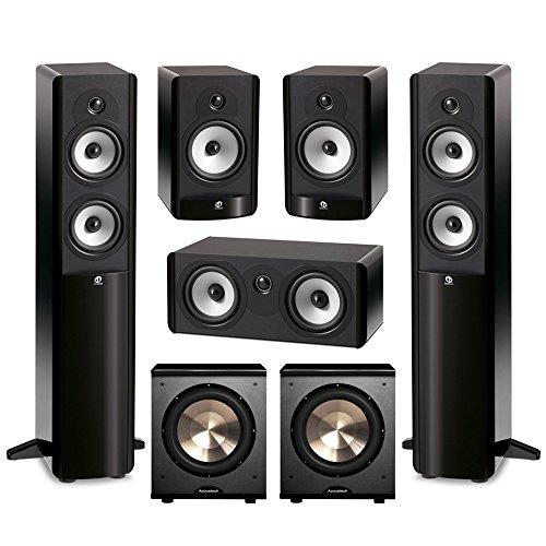 Boston Acoustics 5.2 System with 2 A250 Floorstanding Speakers, 1 A225C Center Channel Speaker, 2 A26 Bookshelf Speaker,