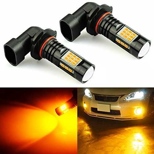 JDM ASTAR 2400 Lumens Extremely Bright PX Chips 9006 LED Fog Light Bulbs for DRL or Fog Lights, Amber Yellow