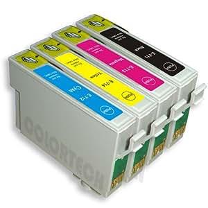 4x alta capacidad cartuchos de tinta compatibles para impresora Epson Stylus D92–cian/magenta/amarillo/con Chip