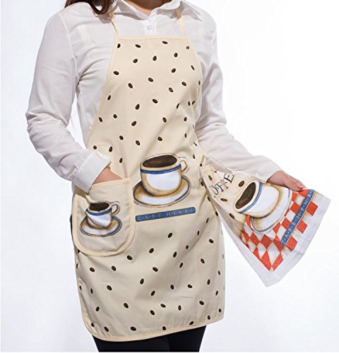 napkins assorted colors Korean Cute Floral Print Women Sleeveless Aprons Kitchen Anti-oil Cooking Apron with Hand Towel napkins cloth (B3)