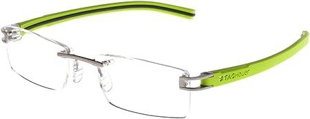 Tag Heuer - Track S 7641 - Gafas de color 014 Lava/Anís Verde/Gris Oscuro, 52 mm