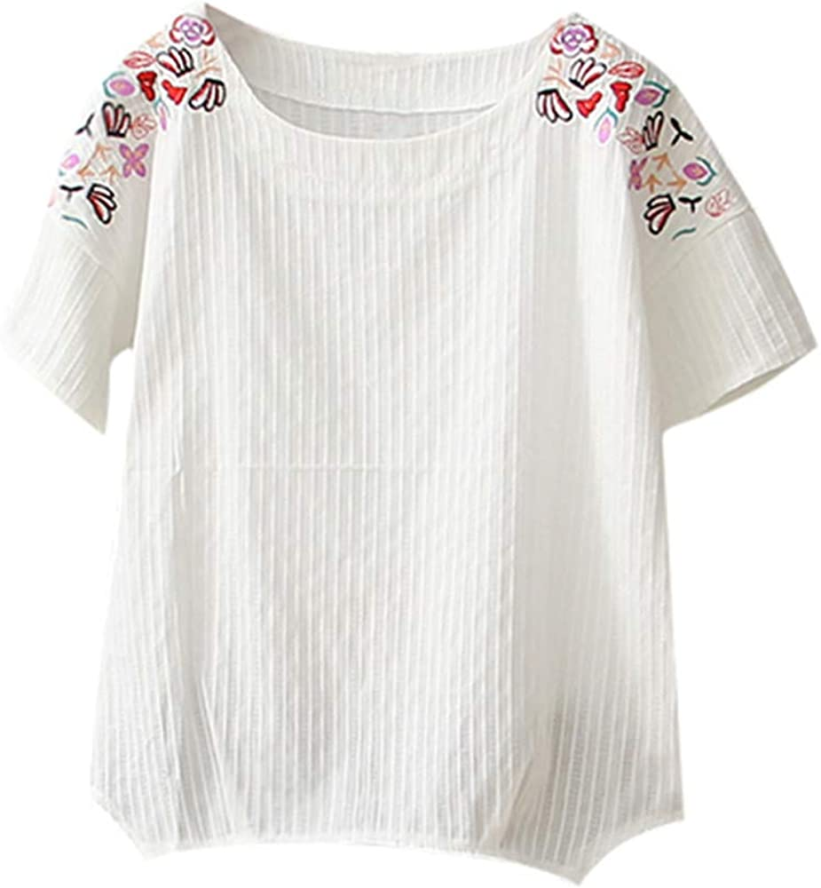 My Heat - Camiseta de Manga Corta para Mujer (algodón y Lino ...