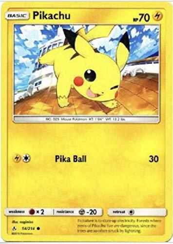 Pikachu - 54/214 - Common - Non Holo - Unbroken Bonds - NM/M - 100% Guaranteed Authentic
