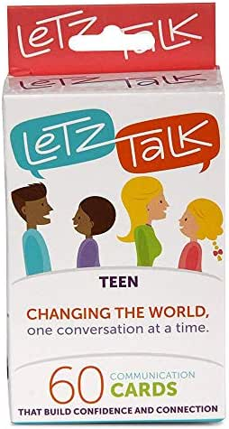 Letz Talk Card Game for Families - Teens, Counseling Therapy Games - Great for Family Travel