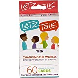 Letz Talk Conversation Cards for Teens - Helpful Learning Conversation Card Game for Young Adults - Confidence Building Learning Resource - 60 Cards Included (Ages 13-18)