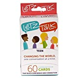 Letz Talk Card Game for Families, Teens, Counseling Therapy Games, Conversation Starters for kids, Builds Confidence, Family Travel, Stocking Stuffer