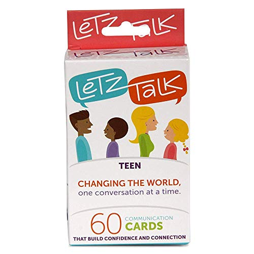 Letz Talk Card Game for Families, Teens, Counseling Therapy Games, Conversation Starters for kids, Builds Confidence, Family Travel, Stocking Stuffer (Listening Skills Activities For High School Students)