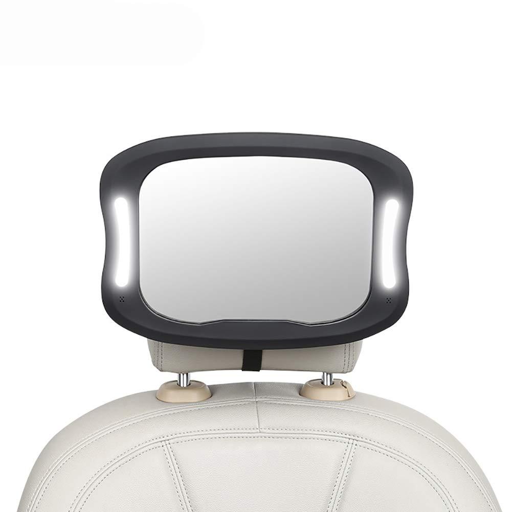 Specchietto Retrovisore Bambini Baby Bambino Vista posteriore Specchio Regolabile a 360/° Sicuro e Antiurto Specchio per Auto sedile posteriore Nero