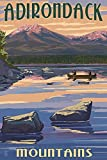 Adirondack Mountains, New York - Lake and Mountain View (16x24 Giclee Gallery Print, Wall Decor Travel Poster)