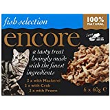 Encore Cat Food Pot Multi Pack Pot Fish Selection, 60g, Pack of 4