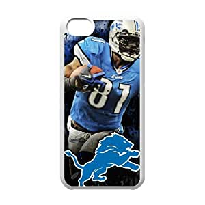 Detroit Lions iPhone 5c Cell Phone Case White 218y3-145945