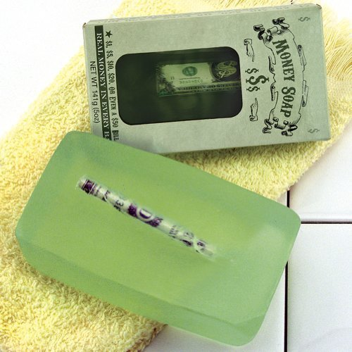 Set of 2 Money Soap Cash In Every Bar Scented Practical Joke Gag Present